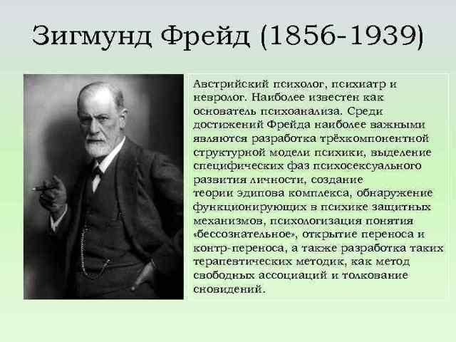 Зигмунд Фрейд о природе художественного творчества